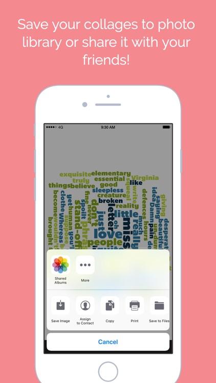 Word Collage screenshot-4