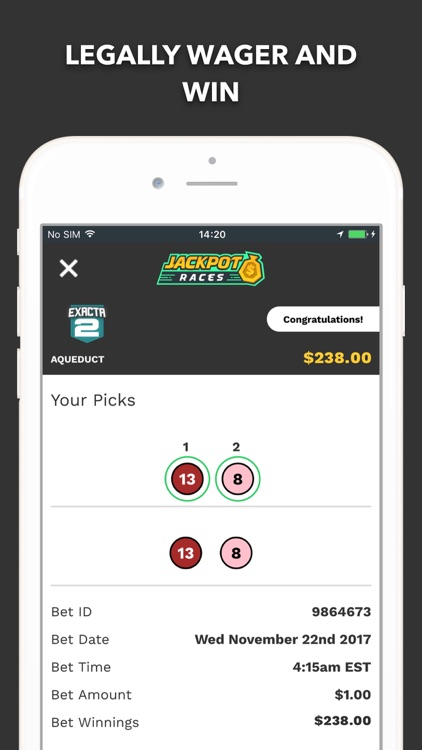 Jackpot Races Legal Horse Bets screenshot-4