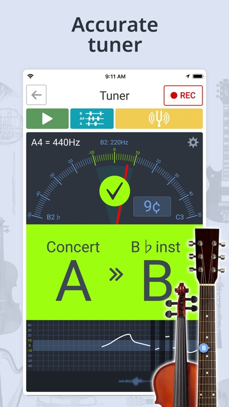 flute tuner and metronome online free