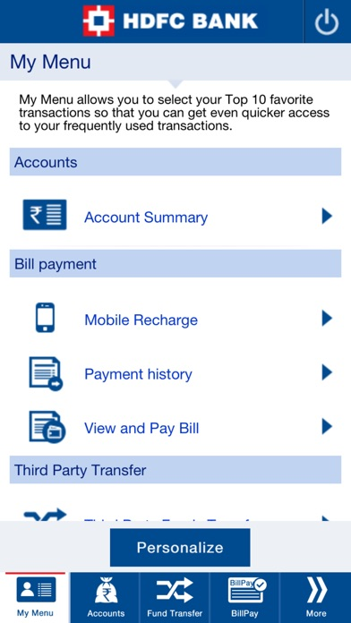 Screenshot for HDFC Bank Mobile App in Jordan App Store