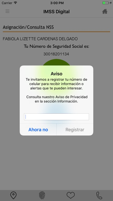 Screenshot for IMSS Digital in Mexico App Store