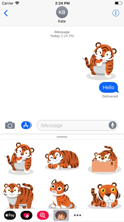 Cute Tiger Roar Stickers
