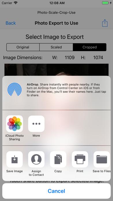 Photo - Scale - Crop - Use screenshot four