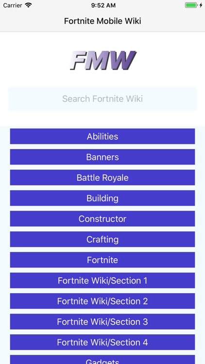Mobile Wiki for Fortnite