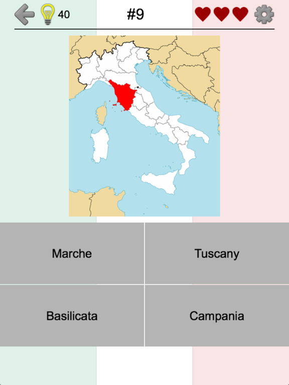 Italian Regions - Italy Quiz Screenshots