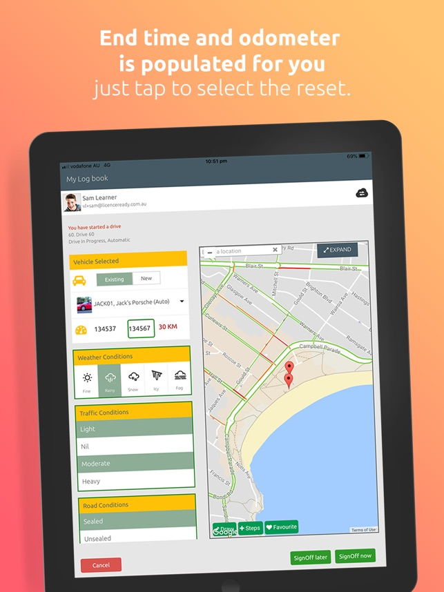 Licence Ready learner log book on the App Store
