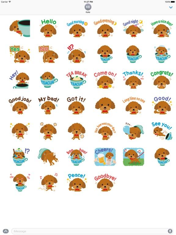 Cute Teacup Poodle Dog Sticker screenshot 4