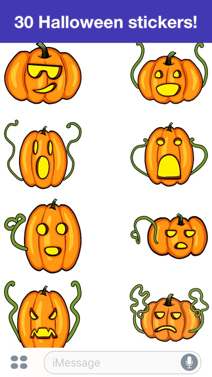 Pumpkins - Halloween stickers screenshot-1