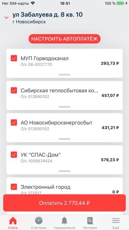 Мои счета - Электронный город