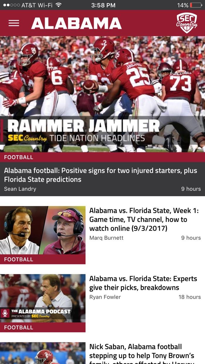 SECCountry.com - Football News Screenshot