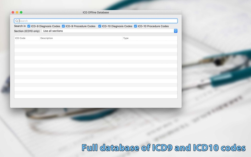 ICD Offline Database скриншот программы 1