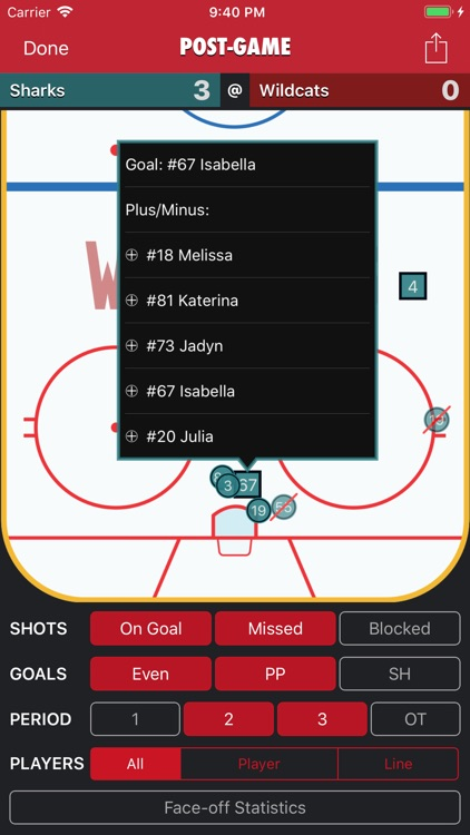 Goaliath Hockey Stats Tracker screenshot-8
