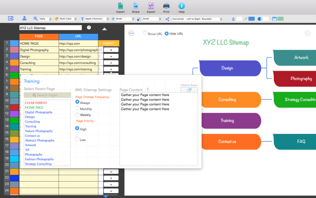 visual sitemap builder on the mac app store