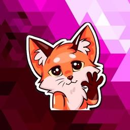 Scoot The Fox Emoji Stickers