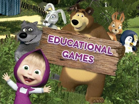 Ipad Screen Shot Masha and the Bear Games 0