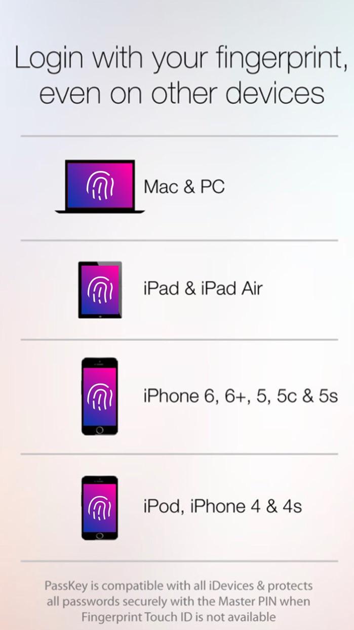 Fingerprint Login: PassKey Password Lock Hide Apps Screenshot