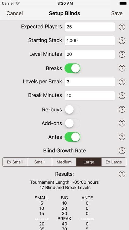 Texas Holdem Poker Timer Pro screenshot-3
