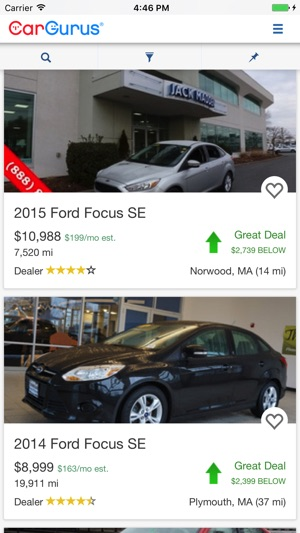 Cargurus Shop Cars Get Deals On The App Store