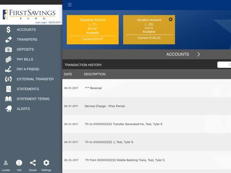 First Savings Bank,IN for iPad screenshot-1