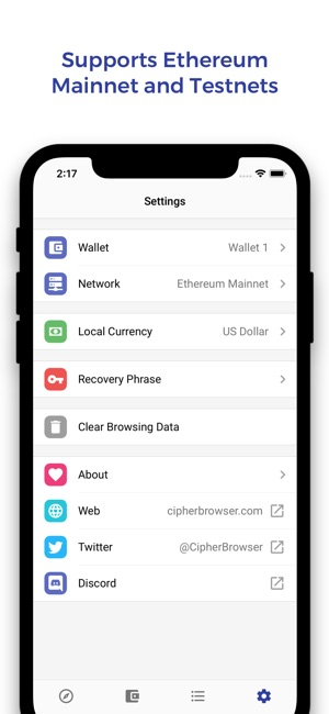 Cipher Browser - Ethereum on the App Store