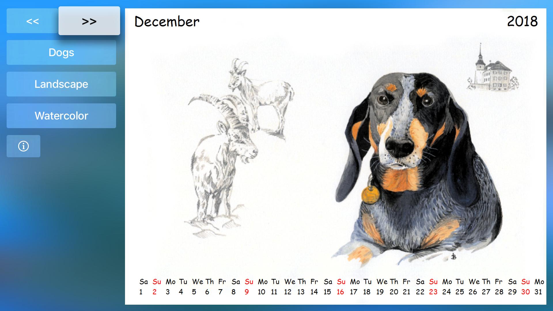 Calendar for TV screenshot 6