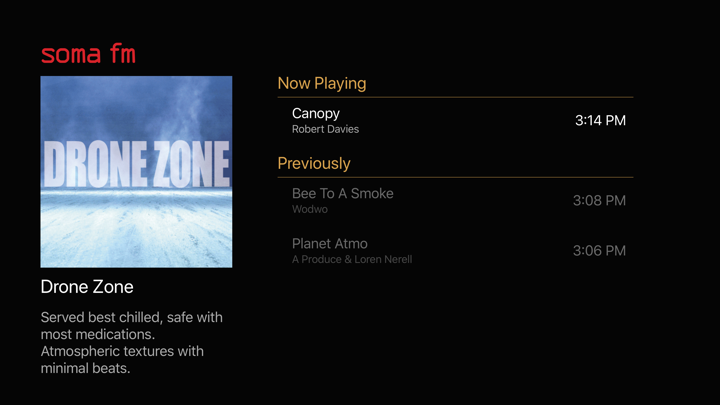 SomaFM Radio Player Screenshots