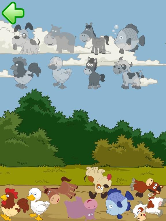 Скачать пазлы: Животное тяжести для малышей 2
