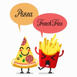Pizza and French Fries Stickers Pack