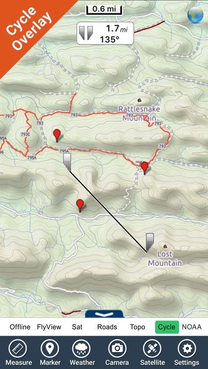 Ouachita National Forest - GPS Map Navigator screenshot-3