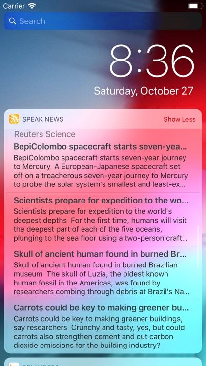 Speak News - RSS news reader screenshot-8