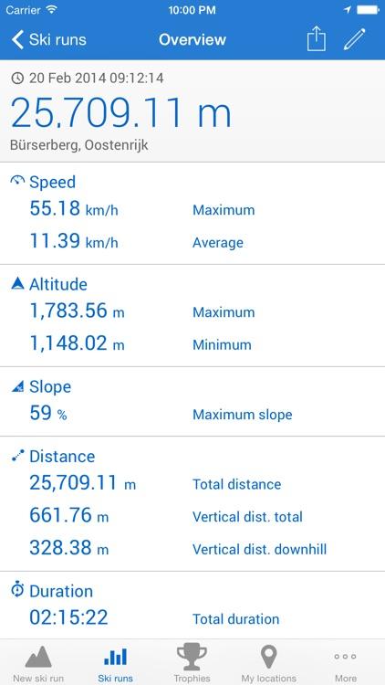 Ski run - ski/snowboard