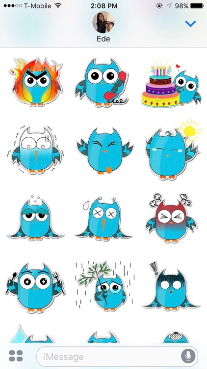 Blue Owl Fukuro Stickers