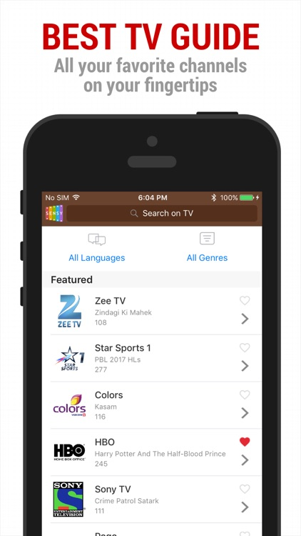 Sensy India TV Guide & Remote screenshot-3