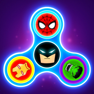 SuperHeroes Fidget Spinner - Games app