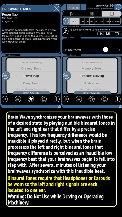 Brainwave review screenshots