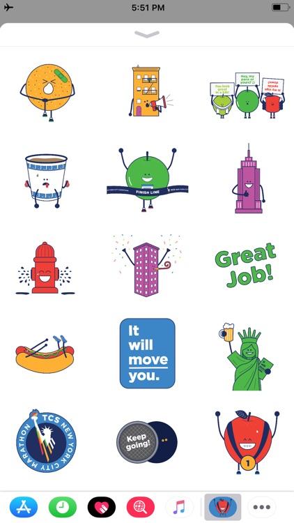 TCS NYC Marathon Sticker Pack