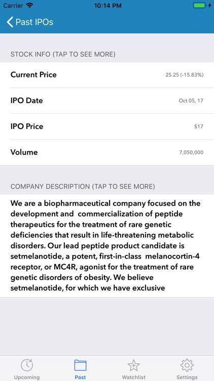 IPO Calendar screenshot-3