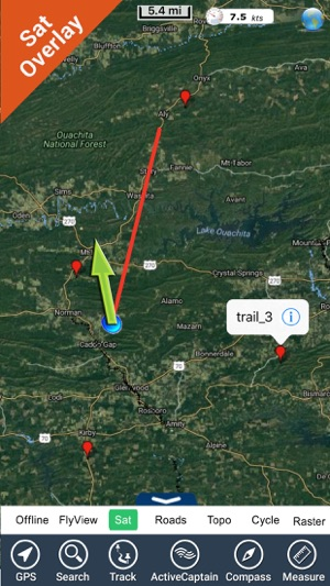 Ouachita National Forest gps and outdoor map im App Store