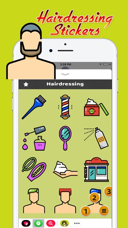 Hairdressing Stickers