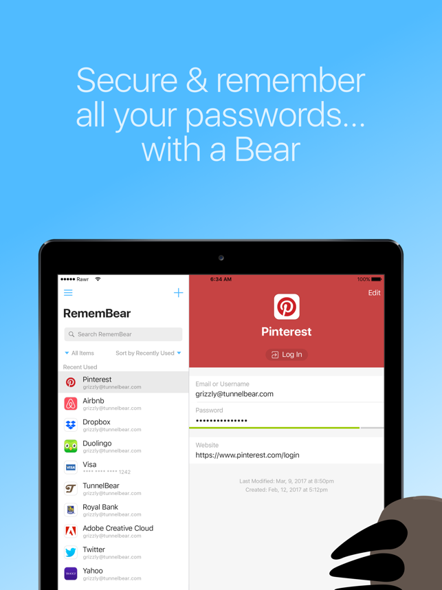 RememBear: Password Manager Screenshot