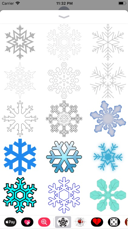 Snowflake Sticker Pack screenshot-3