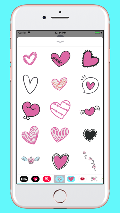 Screenshot for Hand drawn valentine hearts in Egypt App Store