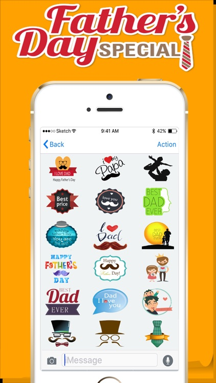 Fathers Day Stickers 2018