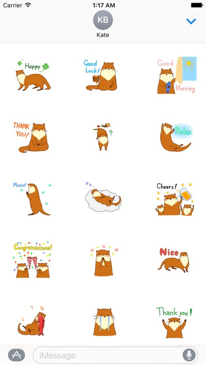 Cute Otter - Ottermoji Sticker