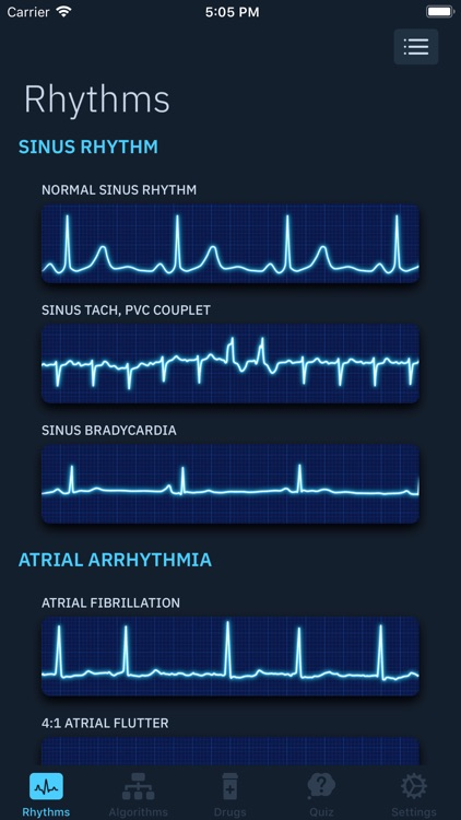 ACLS Rhythms and Quiz screenshot-1