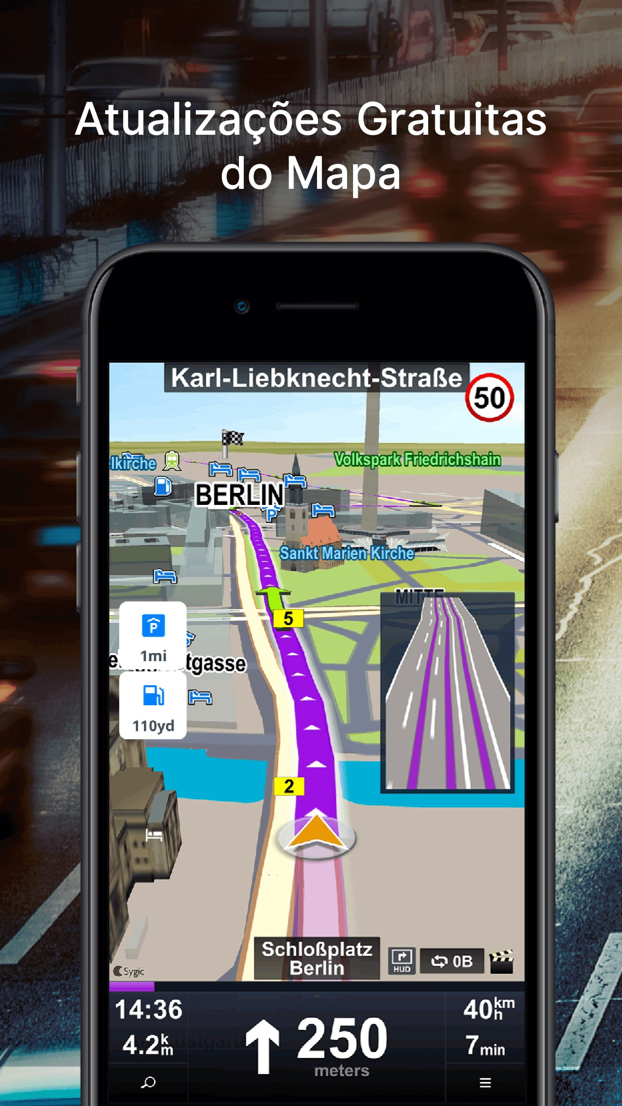 Screenshot do app Car Navigation: Maps & Traffic