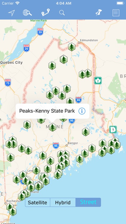 Maine State Parks map! by Shine George
