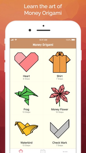 Money origami gifts made easy on the app store money origami gifts made easy on the app store mightylinksfo