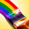Paint Windows : Paintbrush rainbow