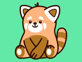 Cute Red Panda Stickers helps make messaging more fun